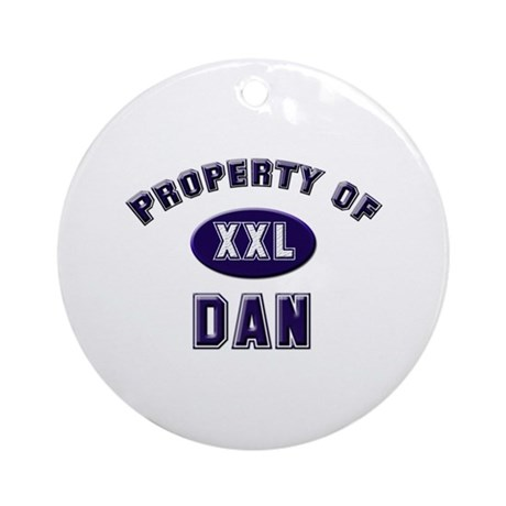Property of dan Ornament (Round)