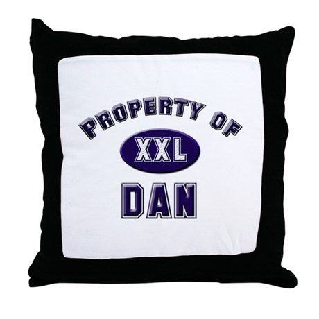 Property of dan Throw Pillow