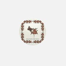 Buckeye Butterfly n Indian Paintbrush2 Mini Button