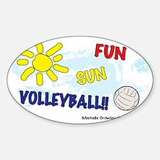 FunSunVolleyball Sticker (Oval)