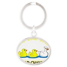 duck_goose2 Oval Keychain