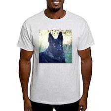 German Shepherd Black Ash Grey T-Shirt