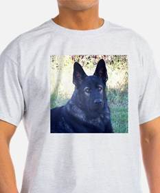German Shepherd Black Ash Grey T-Shirt