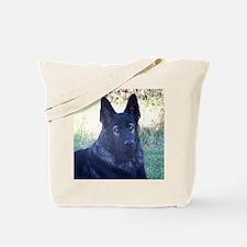 German Shepherd Black Tote Bag