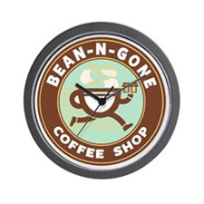 Bean N Gone Logo Wall Clock