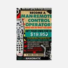 manomatic advertisement copy Rectangle Magnet