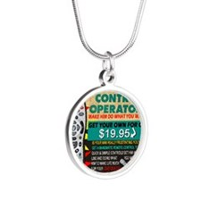 manomatic advertisement copy Silver Round Necklace