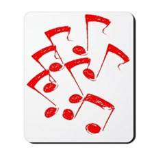 MUSICAL NOTES RED II Mousepad