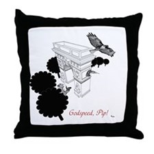 hawks_uncropped final version 1 Throw Pillow
