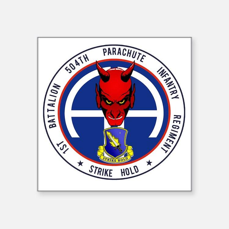 """Devil 1-504 v1 Square Sticker 3"""" x 3"""""""