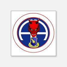 """Devil 1-504 v1 - white Square Sticker 3"""" x 3"""""""