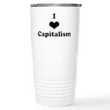 I Heart Capitalism Travel Mug