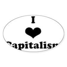 I Heart Capitalism Decal