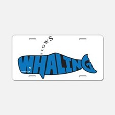 WhalingBlows Aluminum License Plate