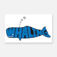 WhalingBlows Rectangle Car Magnet