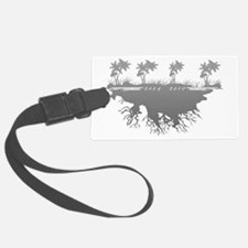 Lost TV palm trees scene WhiteGr Luggage Tag