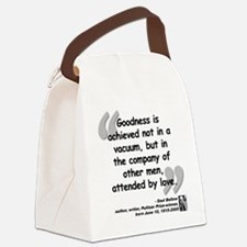 Bellow Goodness Quote Canvas Lunch Bag