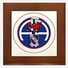 Fury 1st 508th v1 - white Framed Tile