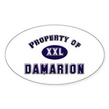 Property of damarion Oval Decal