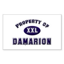 Property of damarion Rectangle Decal