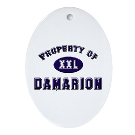 Property of damarion Oval Ornament