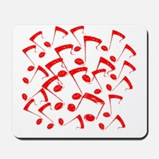 MUSICAL NOTES RED III Mousepad