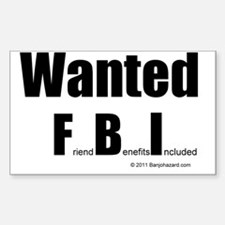wanted fbi Decal