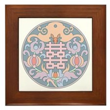 """Double Happiness"" Framed Tile"