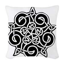 celtic_knotwork_ornament Woven Throw Pillow