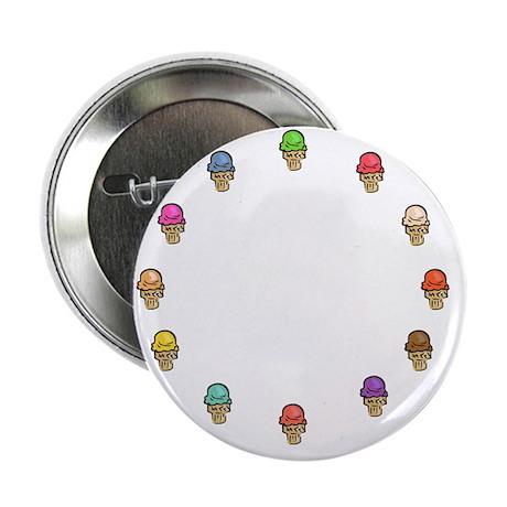 """ice cream circle 2.25"""" Button"""