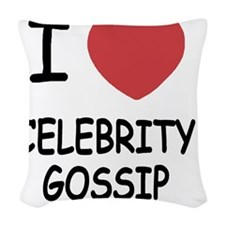 CELEBRITY_GOSSIP Woven Throw Pillow
