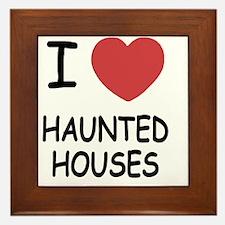 HAUNTED_HOUSES Framed Tile