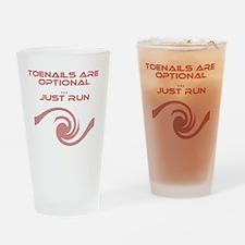 ToeNailOptionaWordsl_White Drinking Glass