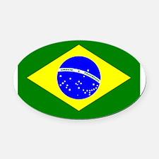 brazil Oval Car Magnet