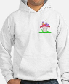 Caterpillar on Mushroom Hoodie
