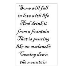 Fall in love with life Postcards (Package of 8)