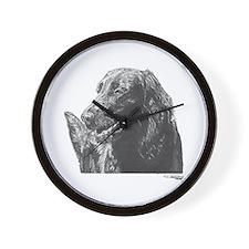 Flat-Coated Retriever Wall Clock