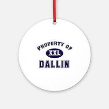 Property of dallin Ornament (Round)