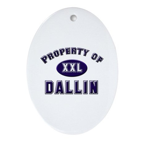 Property of dallin Oval Ornament
