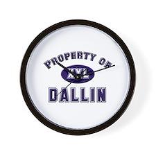 Property of dallin Wall Clock
