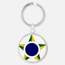831x3-Brazilian_Air_Force_roundel Round Keychain