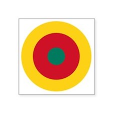 "7x7-Roundel_of_the_Cameroon Square Sticker 3"" x 3"""