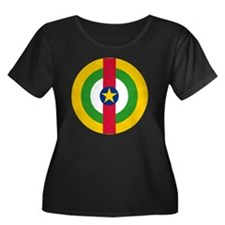 10x10-Ro Women's Plus Size Dark Scoop Neck T-Shirt