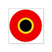"""5x5-Roundel_of_Belgium_1945 Square Sticker 3"""" x 3"""""""