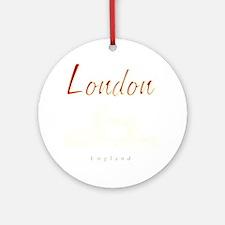 London_10x10_TowerBridge_CreamRed Round Ornament