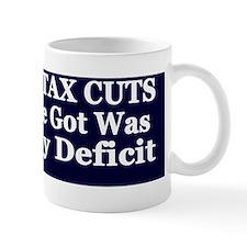 10 years  deficit dk bl-w bumper sticke Mug