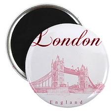 London_10x10_TowerBridge_BlackRed Magnet