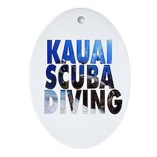 Kauai Scuba Diving Oval Ornament