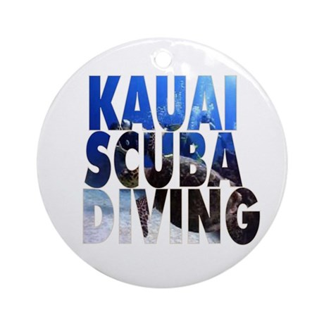 Kauai Scuba Diving Ornament (Round)