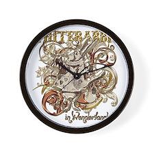 whiterabbit-flourishes-gold Wall Clock